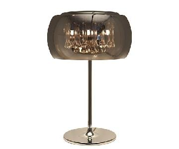 Jensen-Lewis Alain Chrome & Crystals Table Lamp