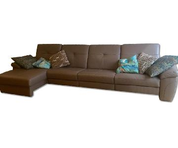 Soft Taupe Modular Couch w/ Chaise