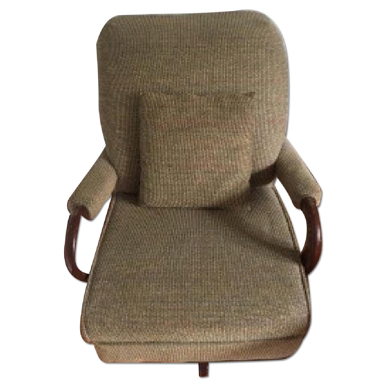 Swivel Upholstered Rocker Chair Aptdeco
