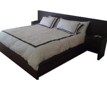 Wst Elm King Size Storage Platform Bed Frame
