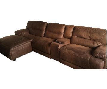 Bob's Pacifica Reclining 4 Piece Sectional Sofa
