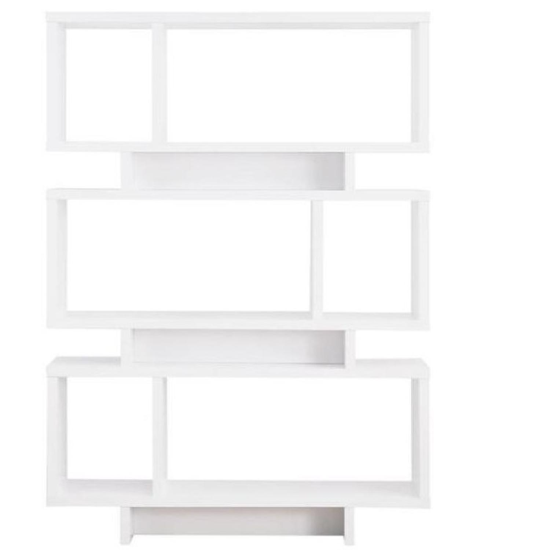 Modern Reversible Bookcase in White Finish