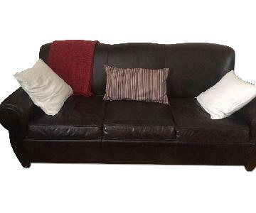 Pottery Barn Manhattan Leather Sofa