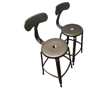 Restoration Hardware French T-Back Gunmetal Counter Stool