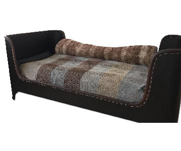 Restoration Hardware Faux Leather Daybed