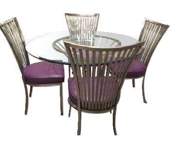 Round Dining Table w/ 4 Chairs