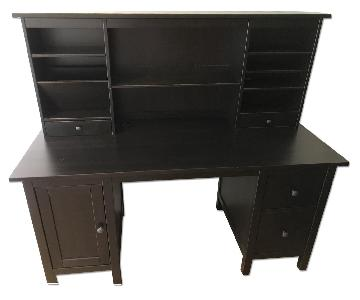 Ikea Hemnes Desk w/ Add-On Hutch