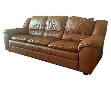 Natuzzi Leather Sofa Bed