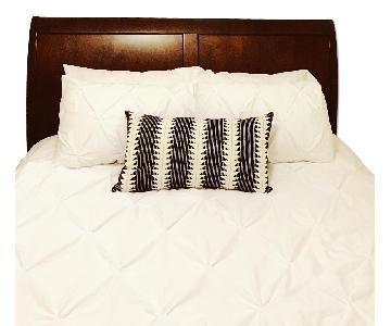 Oak Sleigh Queen Bed Frame