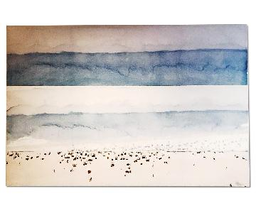 Parvez Taj Large Art Piece - Abstract Ocean Scene
