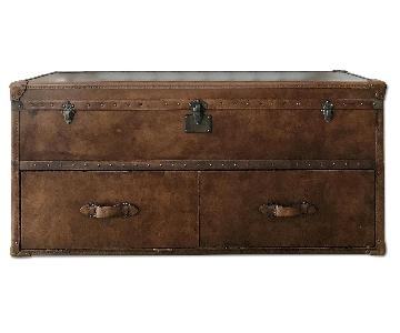 Restoration Hardware Mayfair Steamer Trunk/Media Stand