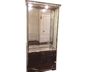 Mirrored Display Unit w/ Vanity