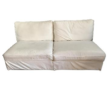 Ikea Kivik White 2 Piece Silpcovered Loveseat