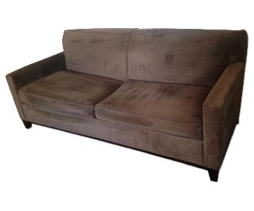 Raymour & Flanigan Dark Brown Sofa