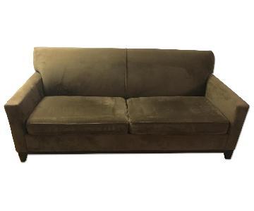 Raymour & Flanigan Microfiber Sleeper Sofa