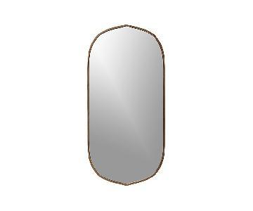 Crate & Barrel Walnut Trim Mirror