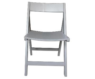 Crate & Barrel Spare Dove Folding Dining Chairs