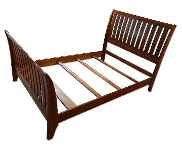 Leggett & Platt Wooden Slatted Full Size Sleigh Bed Frame