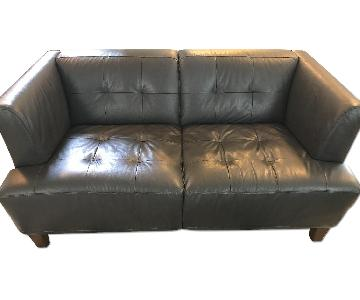 Macy's Alessia Leather Loveseat