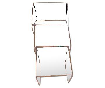 CB2 Acrylic/Transparent Nesting Side Tables