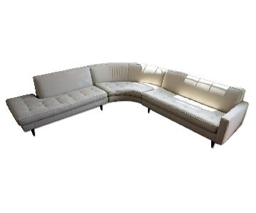 Room & Board Curved Sectional Sofa