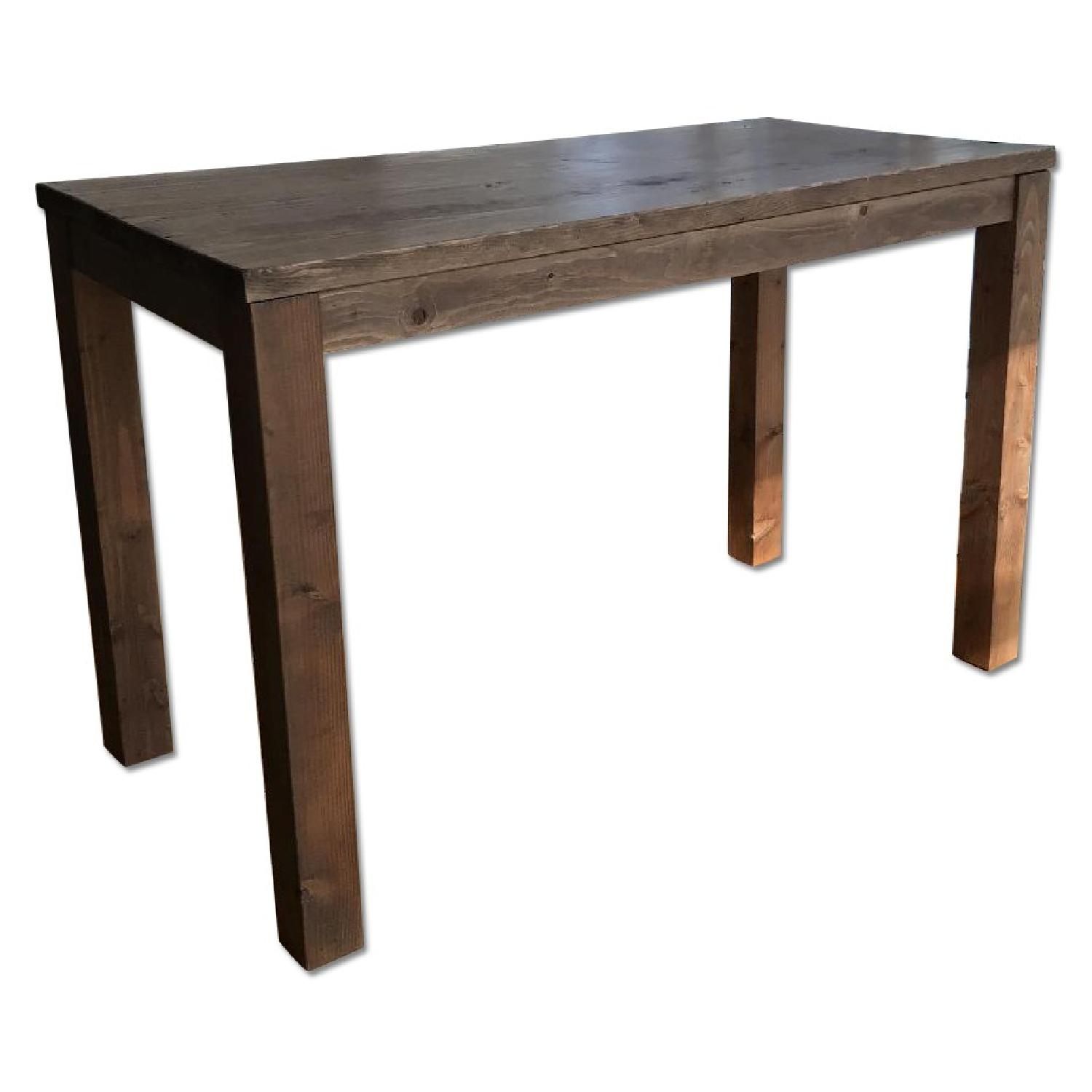 Counter Height Table/Kitchen Island in Reclaimed Wood