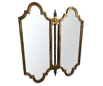 Antique Metal Mirror