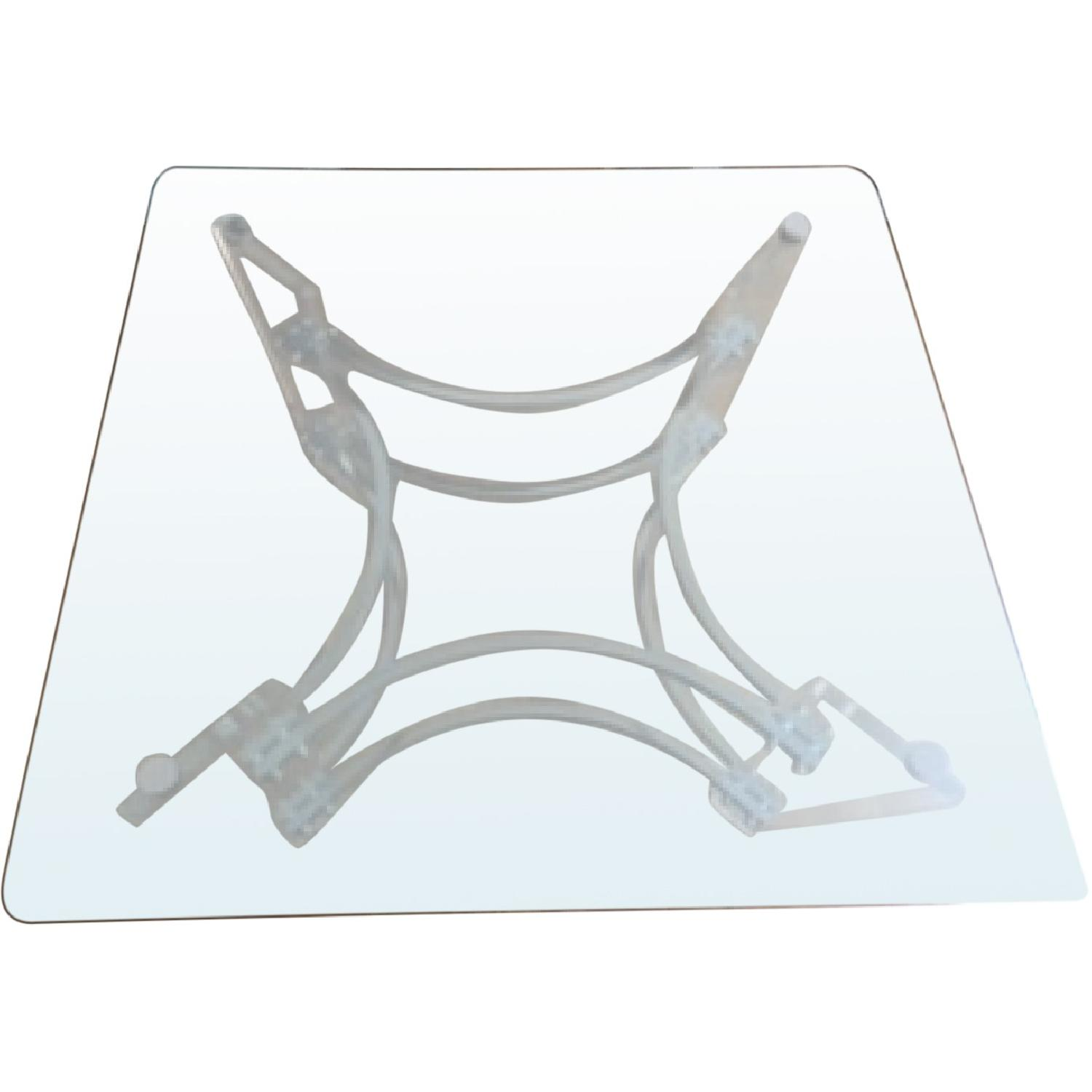 1970's Mid-Century Modern Square Glass Coffee Table