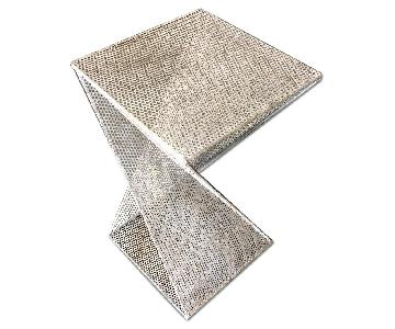 Perforated Twisted Metal End Tables