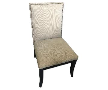 Coaster Fine Furniture Cappuccino Desk Chair w/ Nailheads