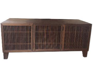 Crate & Barrel Marin Natural Media Console