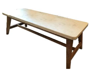 Crate & Barrel Cliff Marble Coffee Table