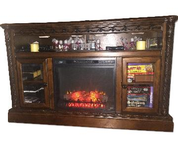 TV Stand w/ Fireplace