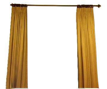 Yellow Lined Curtains