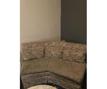 Vintage Floral Curved Loveseat + Armchair