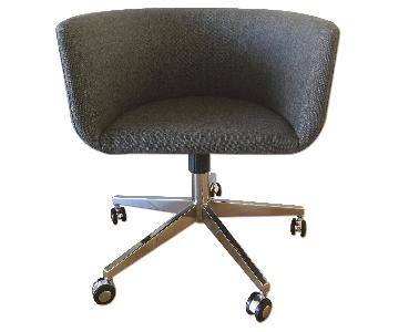 CB2 Coup Grey Office Chair