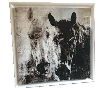 Black & White Horse Print