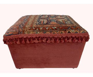 Antique Kurdish Rug Ottoman