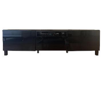Ikea besta Glossy Black TV Unit