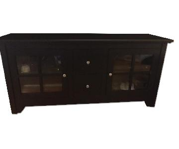 Black Solid Wood TV Stand