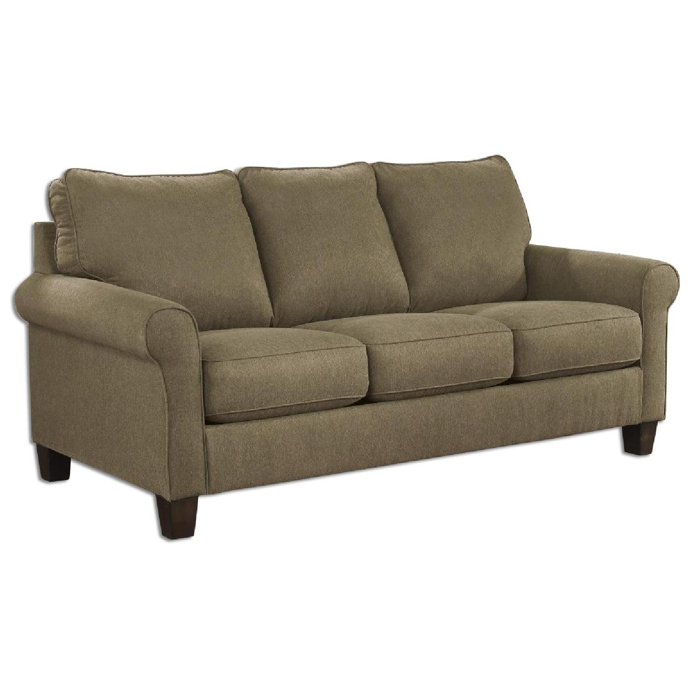 Ashley'sZeth Contemporary Full Sleeper Sofa in Basil Fabric