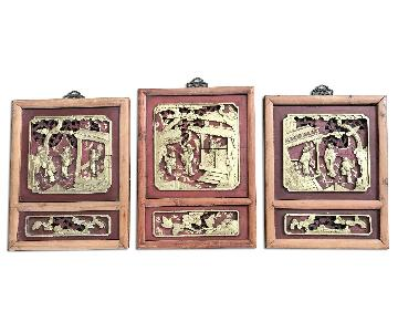Traditional Chinese Wall Wood Relief Panels