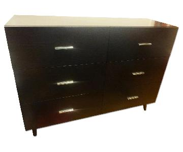 West Elm Adams 6-Drawer Dresser in Chocolate Brown