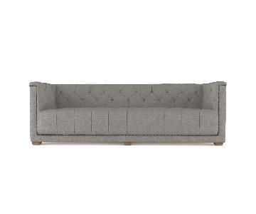 Hudson Tufted Tuxedo Sofa
