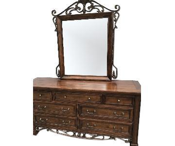 Collezione Europa Dresser w/ Mirror + Nightsand
