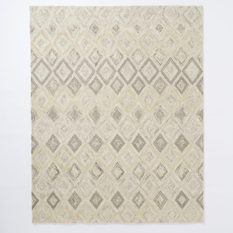 West Elm Wool Rug: West Elm Prism Wool Rug W/ Soot & Eco Stay Pad