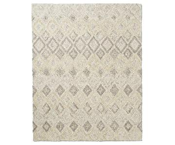 West Elm Prism Wool Rug w/ Soot & Eco Stay Pad
