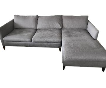 Crate & Barrel Sectional w/ Chaise