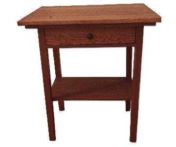 Reclaimed Schoolhouse Desk/Side Table