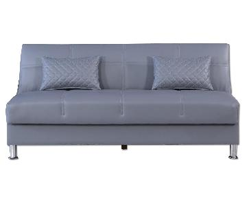 Eco Rest Click-Clack w/ Storage in Grey Leatherette
